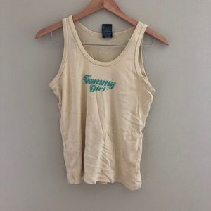 Vtg Tommy jeans yellow tank